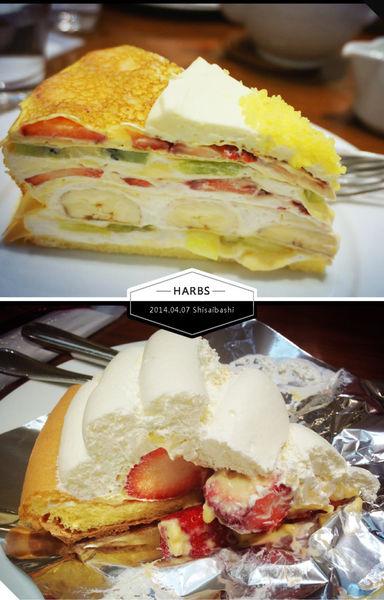 【2014京阪賞櫻】心齋橋大丸北館HARBS。超好吃的千層水果蛋糕♥♥♥ @凱的日本食尚日記