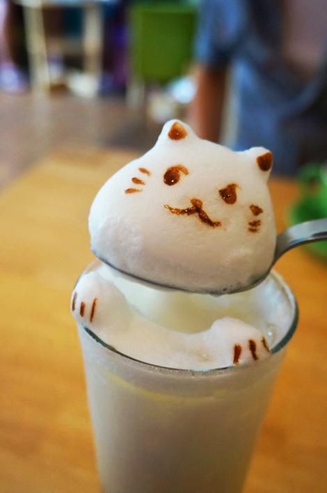 【2014台中2天1夜】超立體的貓咪拉花。貓旅行咖啡輕食館 @凱的日本食尚日記