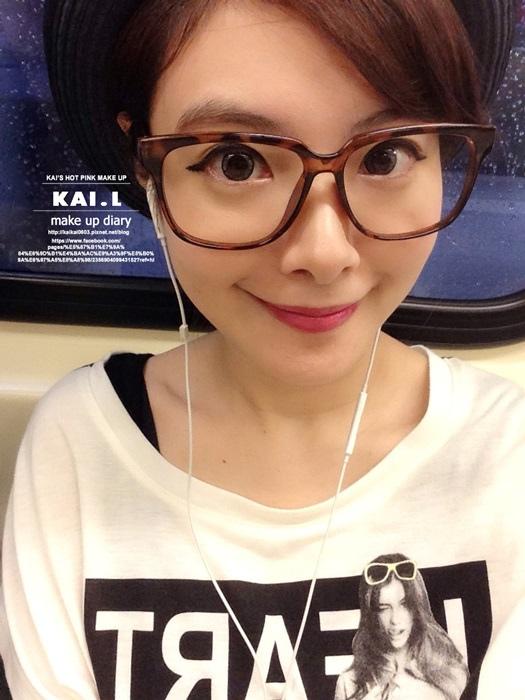 【彩妝】10分鐘快速韓妞妝。濃眉+眼線+桃紅唇超EASY上手 @凱的日本食尚日記