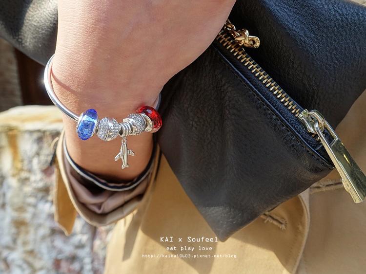 【SOUFEEL-開箱】串出我的紅 x 藍法國幻想。索菲爾925純銀硬式手環(折扣代碼:kai5) @凱的日本食尚日記