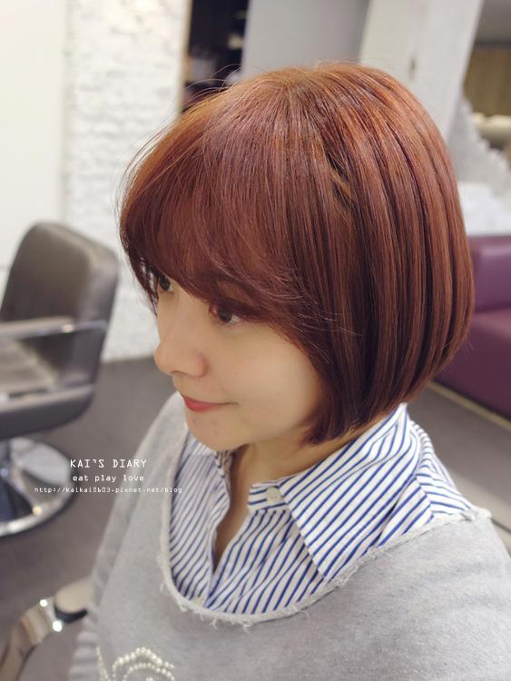 【染髮】超夯的喬妹髮型:「八字瀏海」+「櫻花粉紅髮色」變髮日記 @凱的日本食尚日記