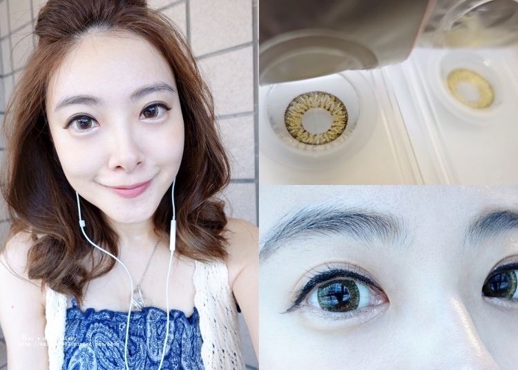 【隱眼】海昌季拋新色-天使金。鏡片有點太大顆 @凱的日本食尚日記