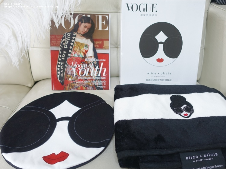 【雜誌贈品】VOGUE 2018一月號alice + olivia經典溫馨毯 @凱的日本食尚日記