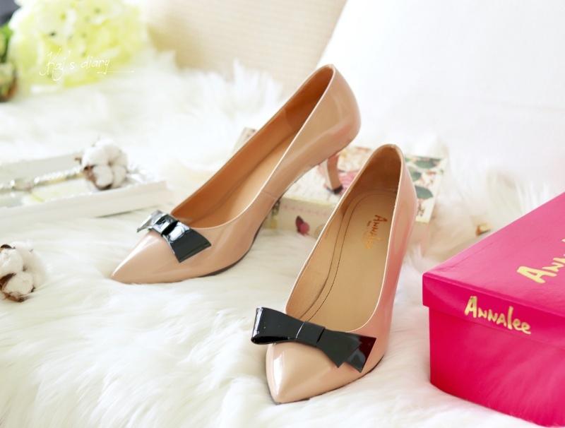 ☆【美鞋】鞋櫃裡一定要有一雙戰鞋!Annalee奶茶裸色蝴蝶結低跟鞋穿搭 @凱的日本食尚日記