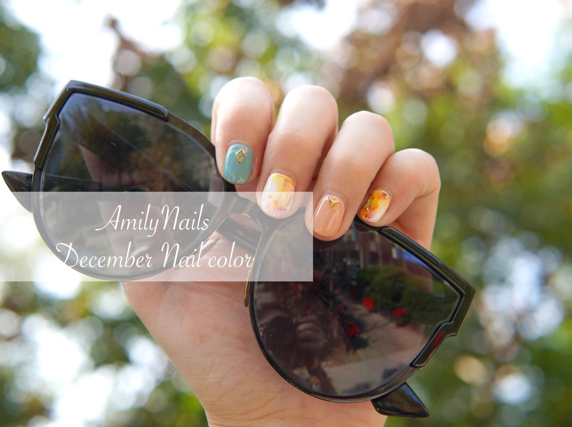 ☆【美甲】Amilynails愛美麗12月活動款-圖騰風暈染指甲 @凱的日本食尚日記