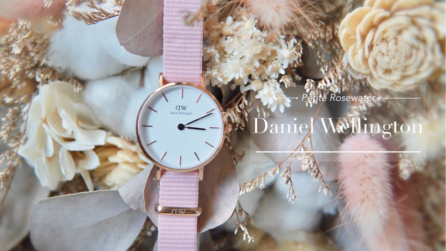 ☆【DW折扣碼】浪漫櫻花粉織紋錶帶Petite Rosewater。玫瑰奶茶系穿搭(2020折扣碼:kaikai00603) @凱的日本食尚日記