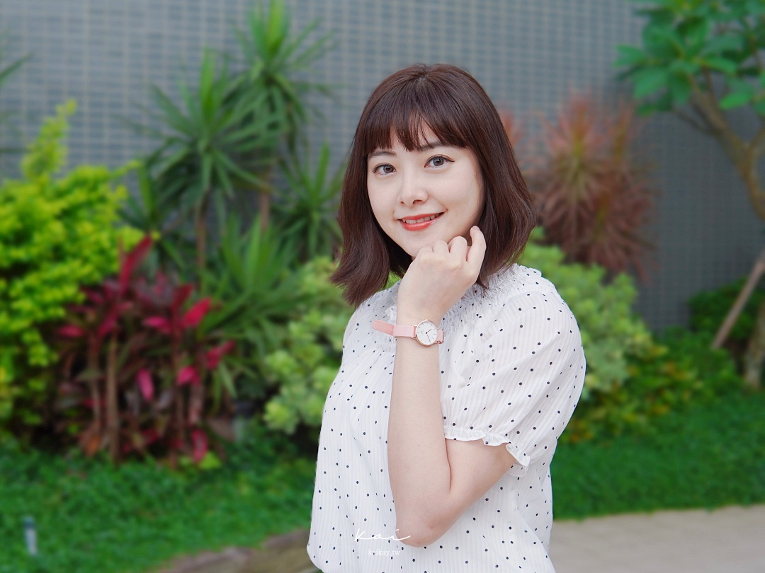 ☆【DW折扣碼】浪漫櫻花粉織紋錶帶Petite Rosewater。玫瑰奶茶系穿搭(2021折扣碼:kaikay)