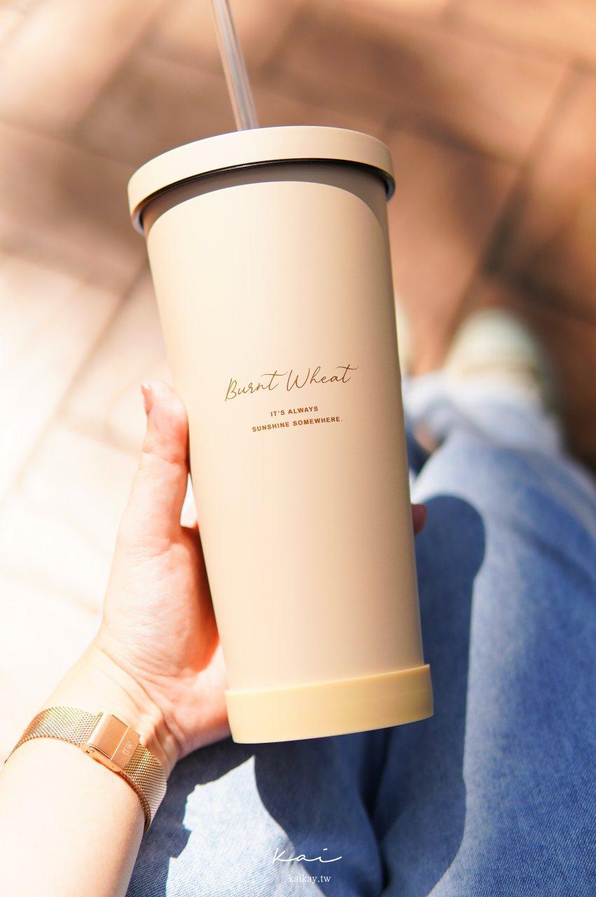 ☆【良杯製所】美美愛地球,史上最美環保杯:小莊園系列-陶瓷易潔層吸管杯。